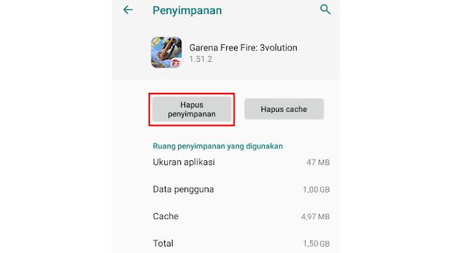 Cara Mengatasi Game Free Fire Keluar Sendiri - hapus data