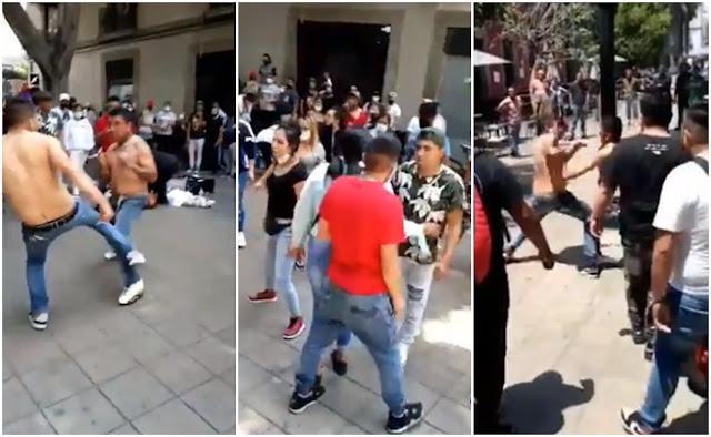 Video: Todos contra todos, se arma batalla campal en calles de la CDMX
