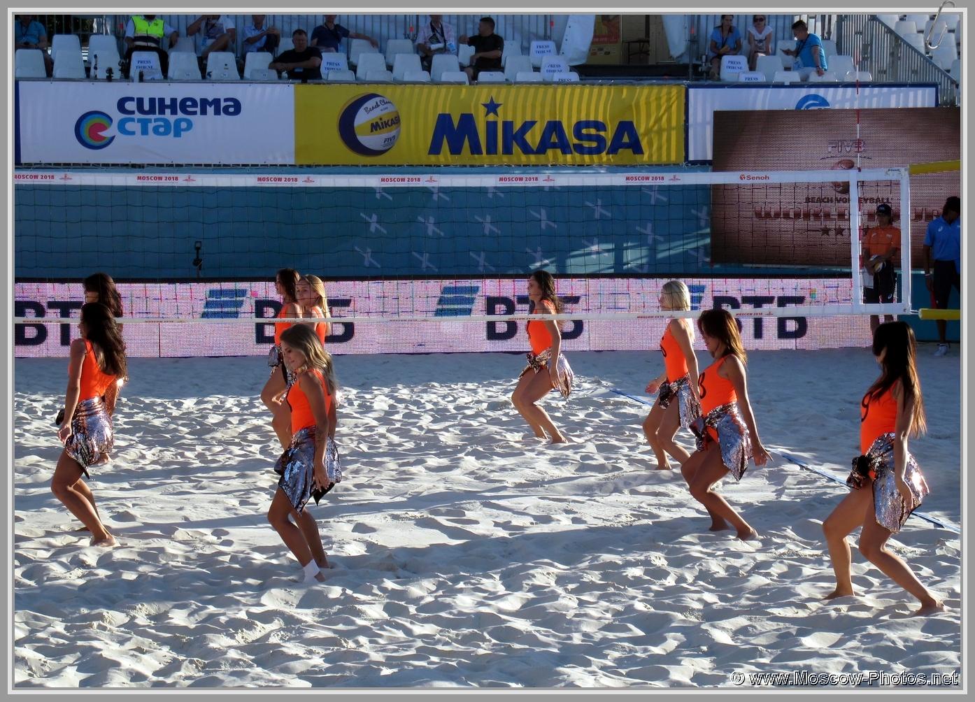Beach Volleyball Cheerleaders
