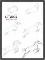 رسم حصان بالخطوات للصغار