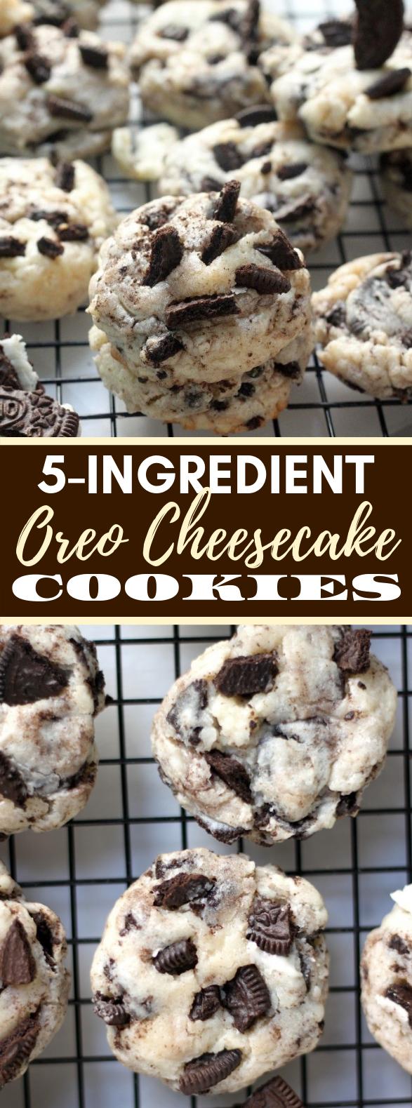 5-Ingredient Oreo Cheesecake Cookies #desserts #sweets