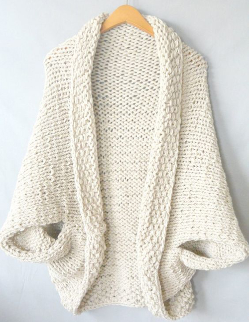 Easy Knit Blanket Sweater - Free Pattern