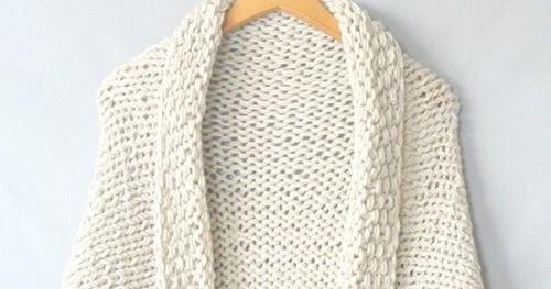 ce5b1bd65d Beautiful Skills - Crochet Knitting Quilting   Easy Knit Blanket Sweater -  Free Pattern