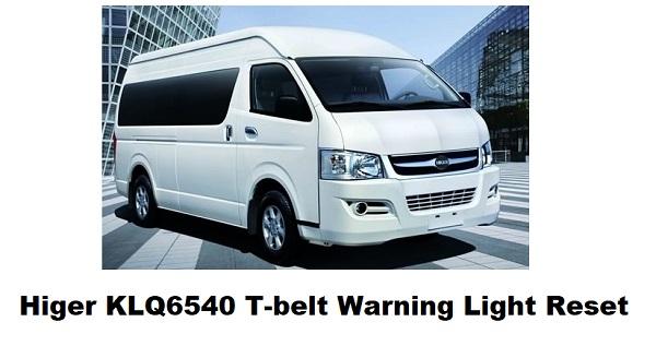 Higer KLQ6540 T-belt Warning Light Reset