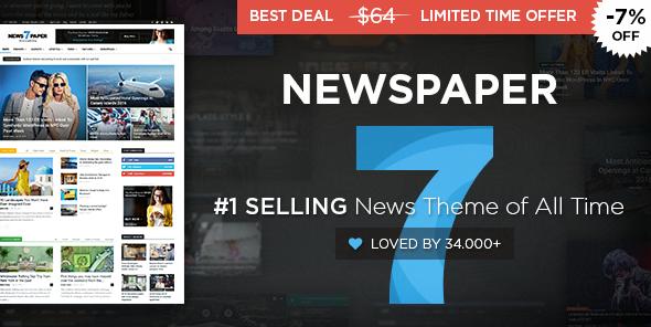 Newspaper v7.7.1 - Wordpress News Theme