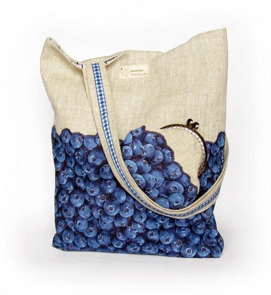 sewing, linen tote bag, комплект из сумки и кошелька