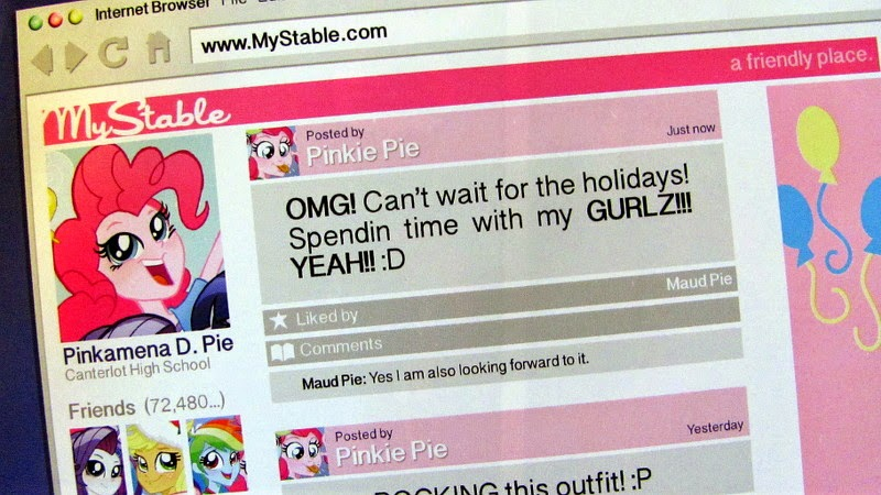 Pinkie Pie's MyStable page