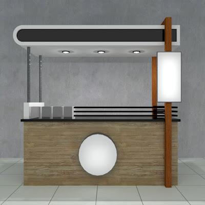 Contoh desain booth minuman boba untuk waralaba