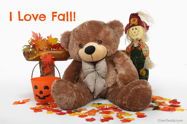 Giant Teddy bear Sunny Cuddles welcomes Fall and all the fun it brings