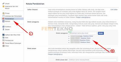 cara membuka status blokir pada facebook