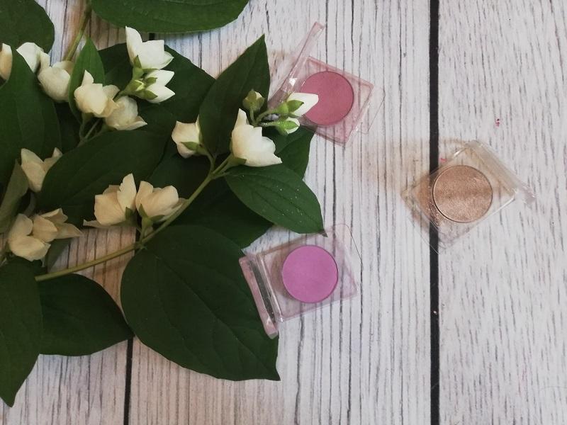 Glam Shop cienie do powiek Nudziara, Wytrawny róż oraz Wrzosiec