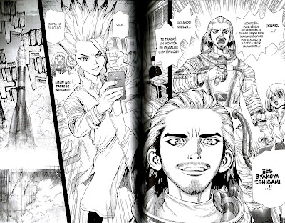 "Reseña de ""Dr. STONE"" vol.5 de Riichiro Inagaki y Boichi - Ivrea"