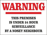 WARNING YARD SIGN FOR PIERVIEW PROPERTIES Real Estate Oceanside CA.