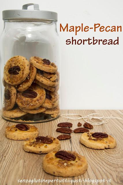 ... tutti i gusti!: Maple-pecan shortbread di Martha Stewart senza glutine
