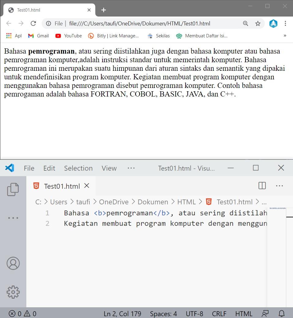 perbedaan elemen html