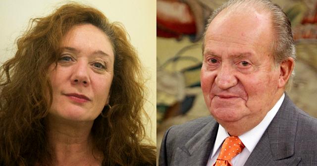 Cristina Fallarás y Juan Carlos de Borbón