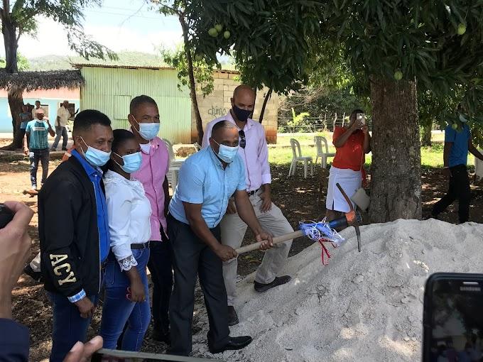 La Guázara:- Junta Municipal da el primer picazo para la construcción del Arco de Bienvenida