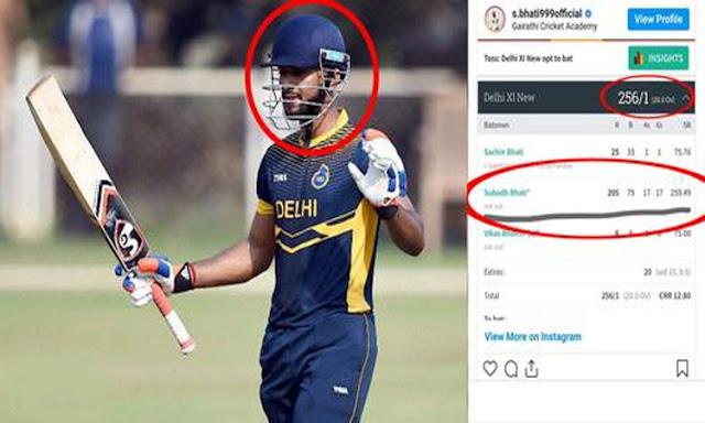 भारत को मिला धाकड़ बल्लेबाज, टी20 में ठोका दोहरा शतक, 17 गेंदो में 102 रन, 34 छक्के-चौके