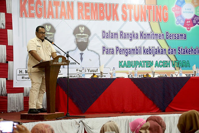 Atasi Anak Tumbuh Kerdil, Pemkab Aceh Utara Adakan Rembuk Stunting