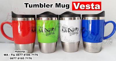 Tumbler Promosi Vesta, botol tempat minum Tumbler Vesta Stainless Mug, Drink Ware Vesta Travel Tumbler