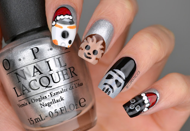 Christmas Star Wars Nail Art