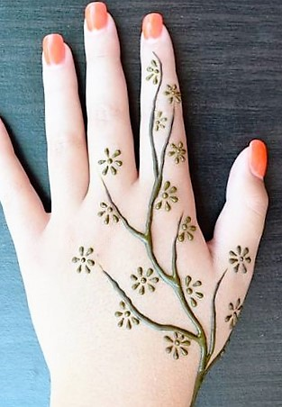 Gorgeous yet simple new Mehndi design easy images for Beginners