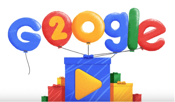 Google 20th Birthday Celebrates With Doodle Video