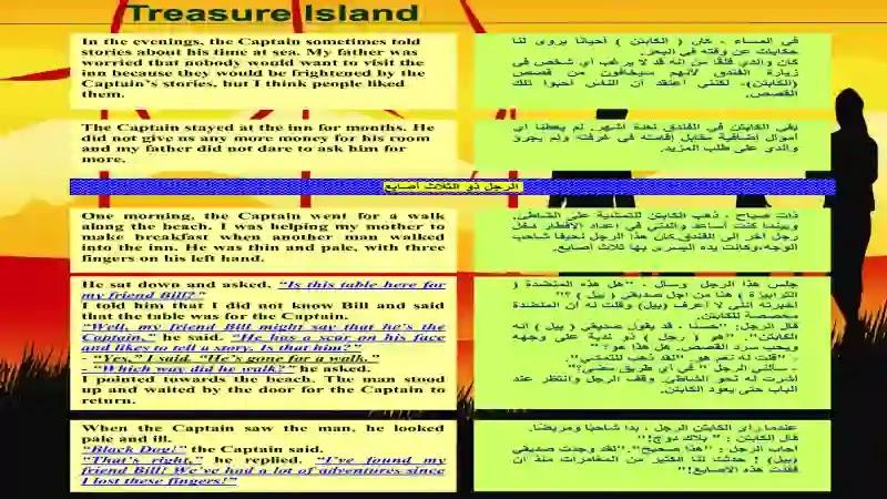 اجمل ترجمة لقصة جزيرة الكنز Treasure Island المقررة على الصف الاول الثانوى 2021