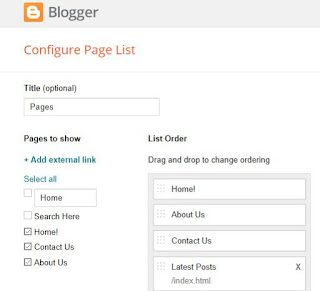 creating blog home page