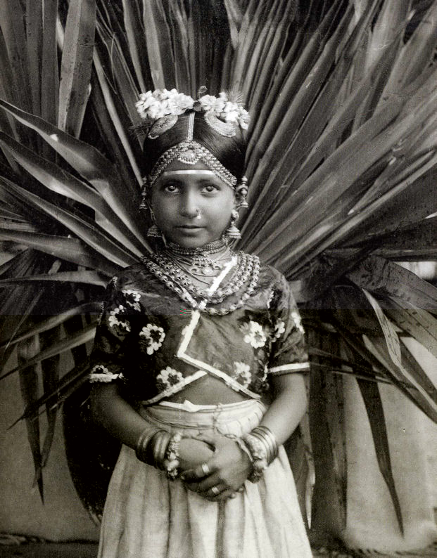 A Tamil Girl from Ceylon (Sri Lanka) - 1912