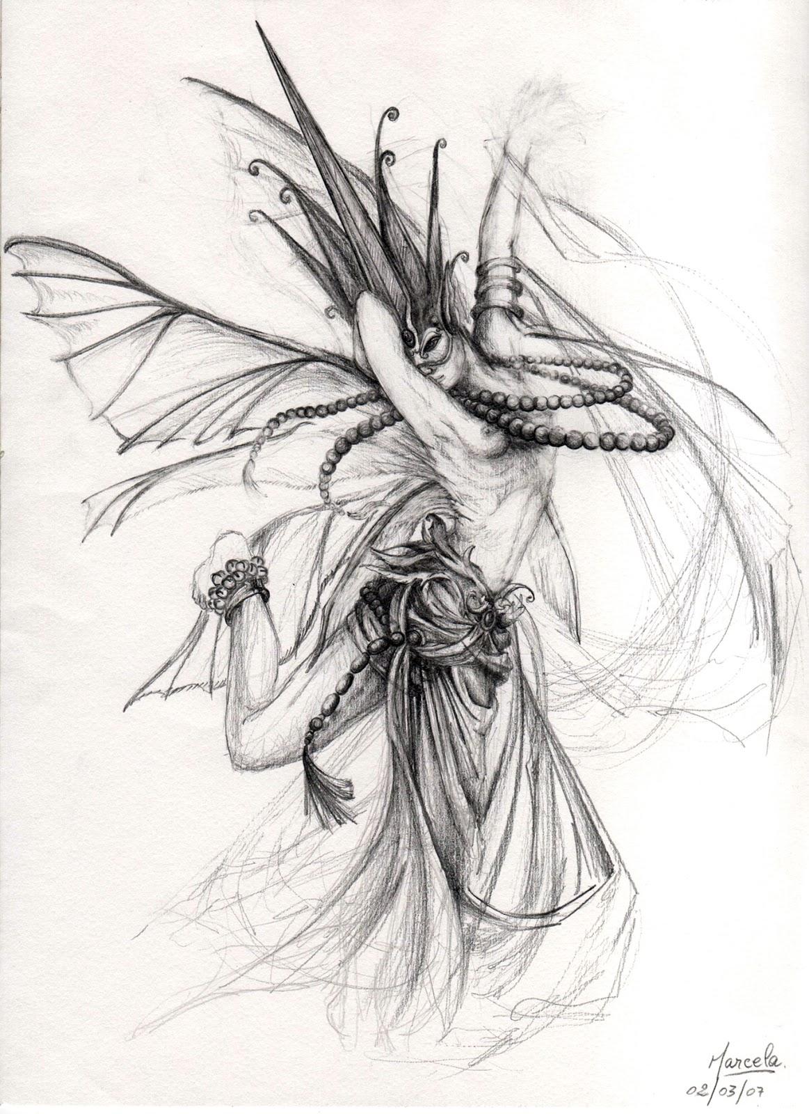 Dibujos De Seres Mitologicos A Lapiz