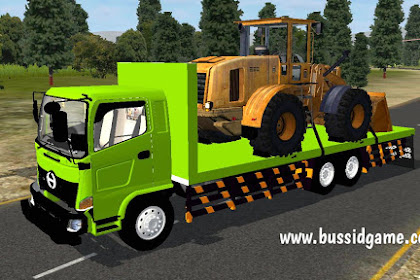 Mod Truck Hino 500 Flatbed Muatan Bulldozer By ARC Group
