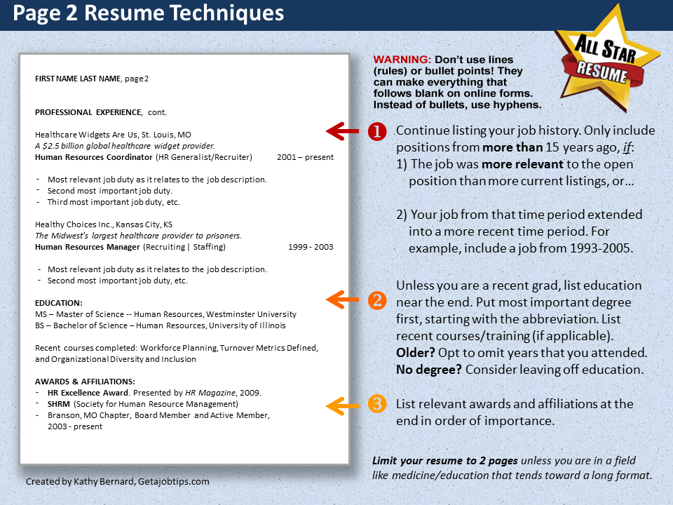 how to set up your resume