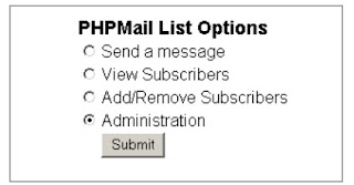 Testing phpmail list out