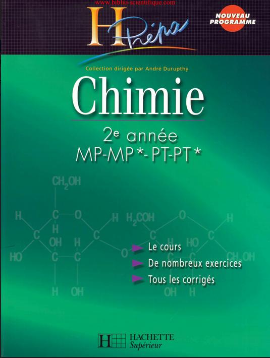 Livre Hprépa Chimie 2ème année MP-MP*/PT-PT*