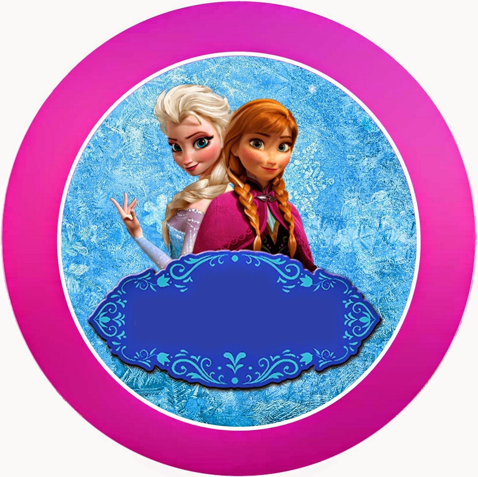 frozen free printable kit with fucsia border oh my fiesta in