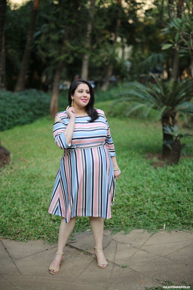 How To Style Plus Size Stripes