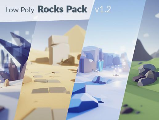 Low Poly Rocks Pack  Low-poly-rocks-pack