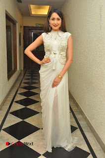 Actress Pragya Jaiswal Stills in Beautiful White Dress at turodu Audio Launch  0037.JPG