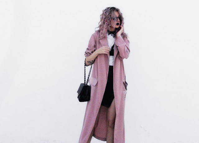 grunge pink outfit