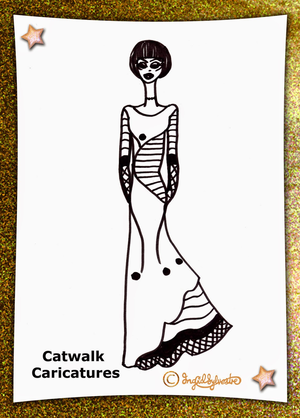 North East caricaturist Ingrid Sylvestre Catwalk Caricatures at Charity Fashion Events and Corporate Events Newcastle Durham Sunderland Middlesbrough Teesside North Yorkshire Northumberland Darlington UK