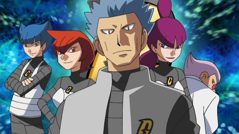 Equipe Galáctica Anime Pokémon