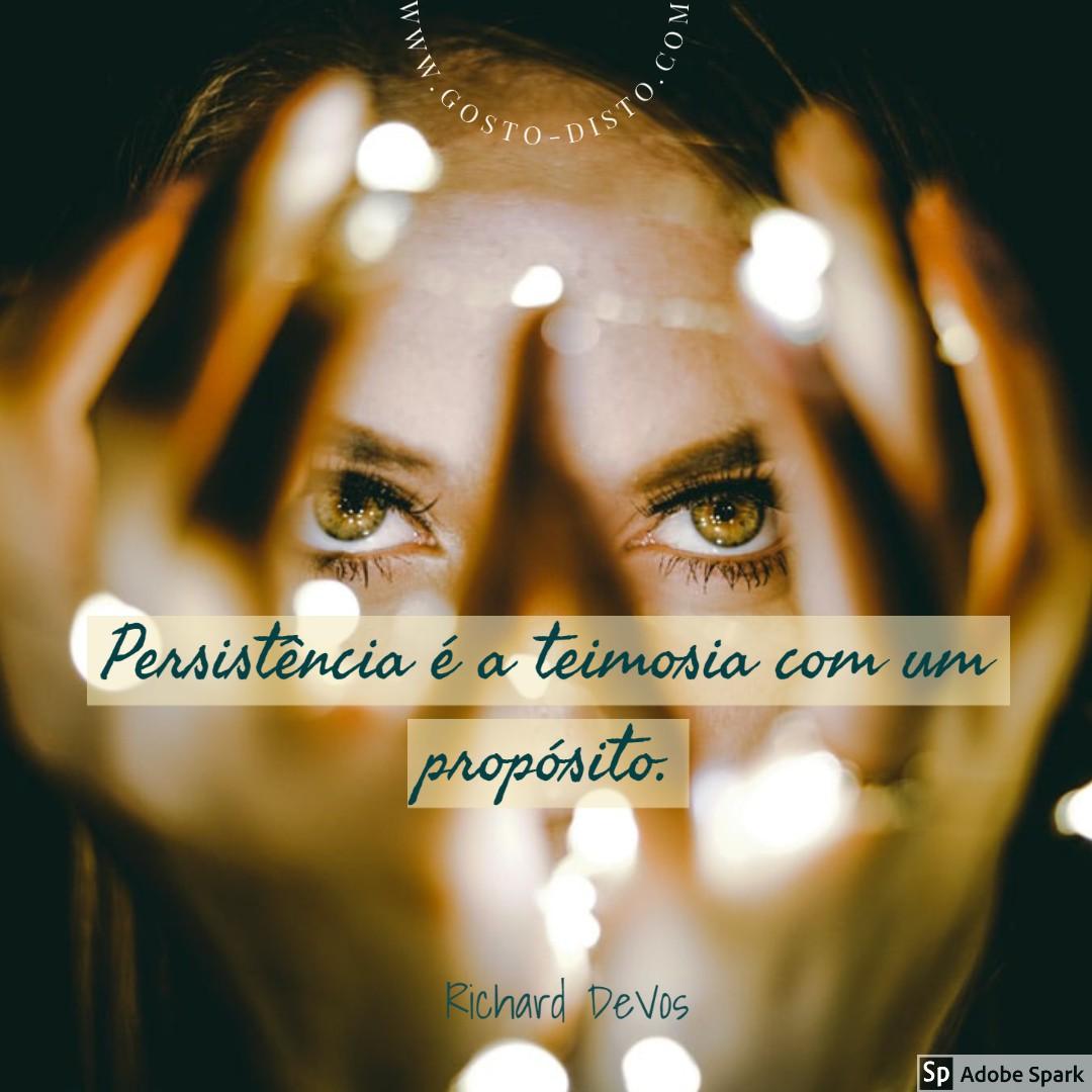 Frase sobre persistência