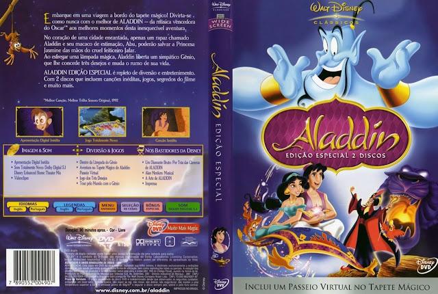 Capa DVD Aladdin