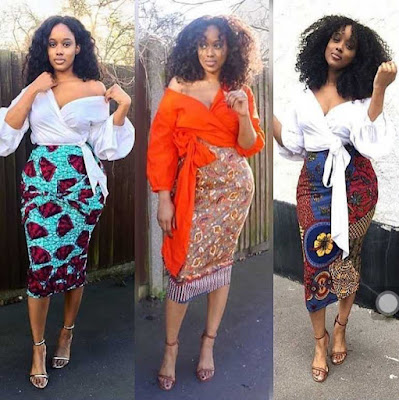 Ankara High Waist Skirts