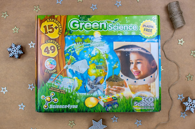 A large box saying Greenscience on it with images of various activities and saying 15 plus activities