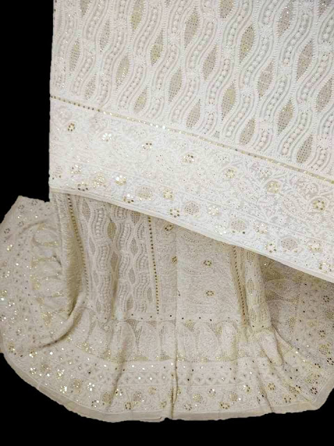 Mukaish Chikankari Bridal Lehenga from Dress365days