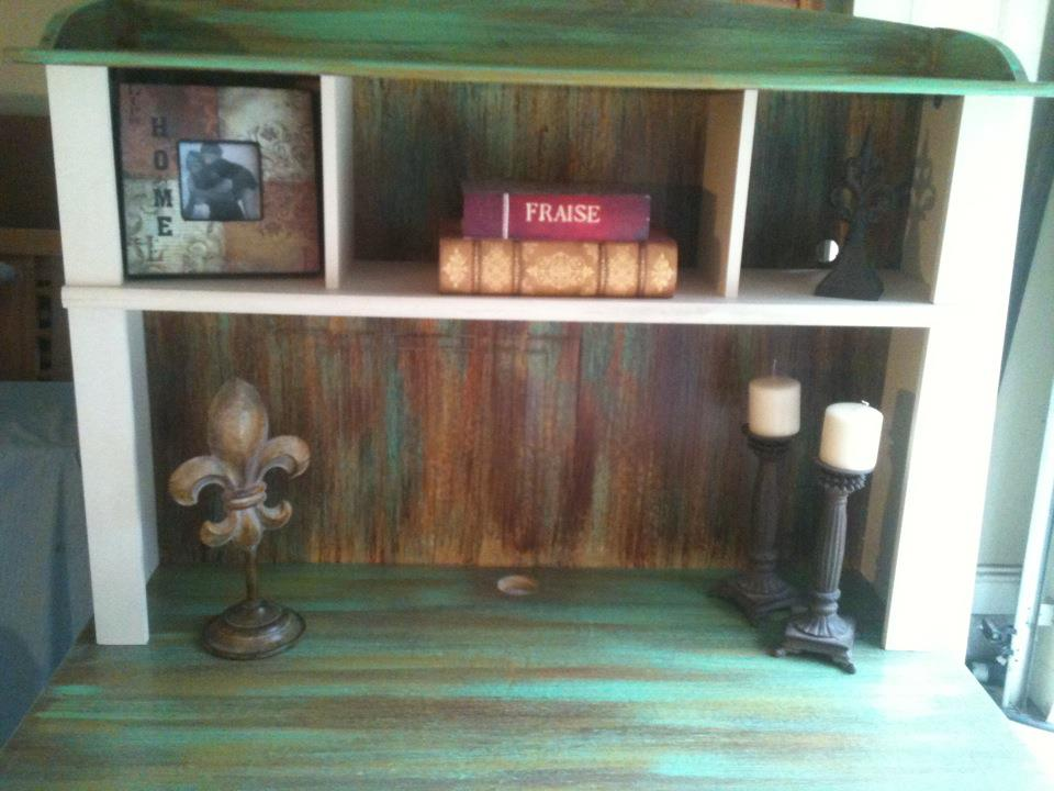 Furniture By Mk Designs Distressed Aqua And Antique White
