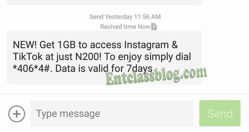 MTN Instagram and Tiktok Plans, Get 1GB For 200 Naira