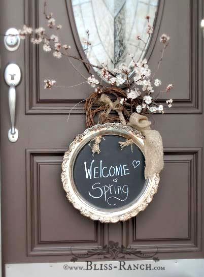 Chalkboard Door Wreath, Bliss-Ranch